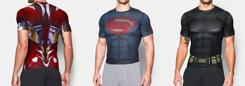 Camiseta Under Armour Superman.Comprar Camiseta Under Armour Batman.