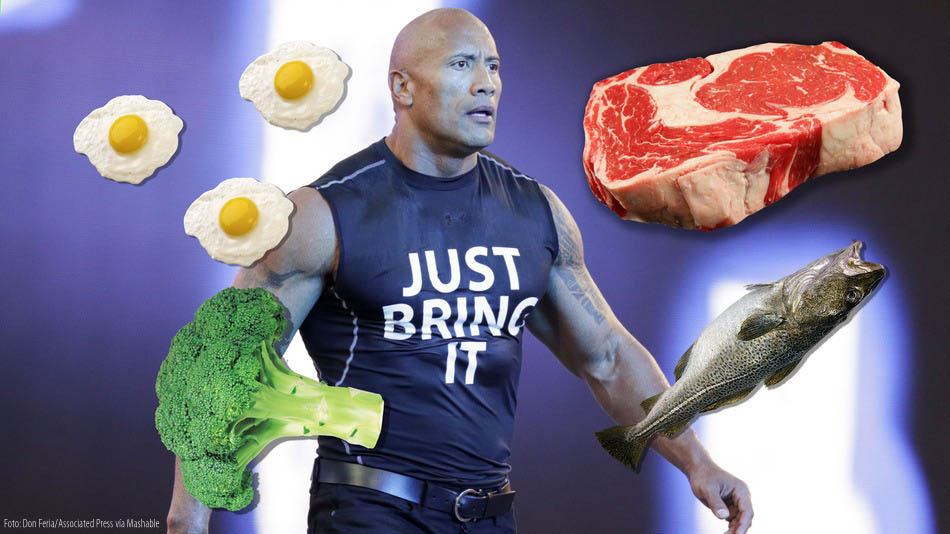 The Rock diet San Andreas